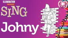 Personangens Filme Cantar - Colorir o Johny