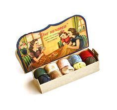 Sew Darn Cute  Vintage Darning Spools and Needle Book by becaruns on etsy.