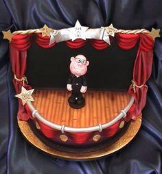 Theatre Stage Figurine Cake