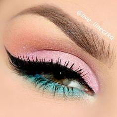 Pastel pink look:                                                                                                                                                                                 More
