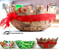 Cool basket for kids to make (too bad it's not in English, but the pictures I think I could follow)