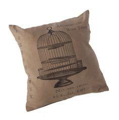 Birdcage Vintage Cushion #Vintage #vintagecushion