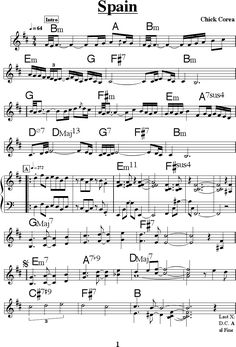 Classical Guitar Sheet Music, Jazz Sheet Music, Saxophone Sheet Music, Free Sheet Music, Music Guitar, Piano Music, Piano Score, Music Score, Guitar Chords For Songs