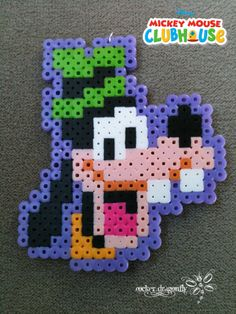 From Mickey Mouse Club House: Goofy !!! Perler Bead Creation by: RockerDragonfly