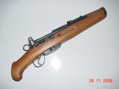 Swiss K-31 The issue is that it's more acceptable to do it to a Mosin Nagant 91/30 ....