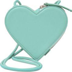 Christopher Kane Heart Shaped Shoulder bag ($560) ❤ liked on Polyvore featuring bags, handbags, shoulder bags, green, handbags shoulder bags, handbags crossbody, hand bags, heart purse and green handbags