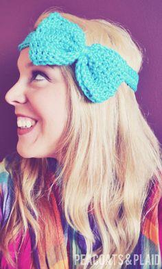 Peacoats and Plaid: Pattern: Crochet Bow Headband