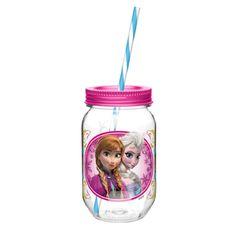 Zak Designs Disney Frozen Mason Jar Tumbler  Anna and Elsa