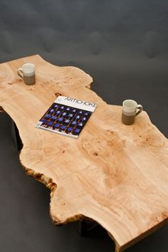Really well done - Maple Burl Long COFFEE TABLE  Reclaimed  by ElpisWorks