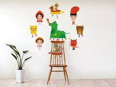 """""""Ball del Drac"""" wall decal by Albert Aromir from THE WALLERY! Available at http://thewallery.com/shop/ball-del-drac-wall-decals-albert-aromir/ in diferent sizes!"""