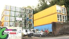 Shipping containers at the Richardson's Yard site