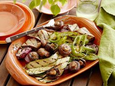 Rachael's Great Grilled Vegetables can be made on an outdoor grill, or, if the weather isn't right, indoors using a grill pan.