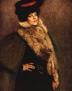 """""""Retrato de Nicolina Vaz"""".  (1905). (by Eliseu Visconti)."""