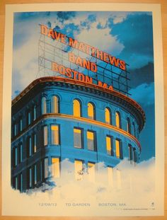 Dave Matthews Band - silkscreen concert poster (click image for more detail)…