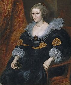 Amalia van Solms-Braunfels by Sir Anthonis van Dyck ~ ~ Prado ~ Sir Anthony van Dyck was a Flemish Baroque artist who became the leading court painter in England, after enjoying great success in Italy and Flanders. Anthony Van Dyck, Sir Anthony, Peter Paul Rubens, Caravaggio, Anton Van, Roi Charles, 17th Century Fashion, Dutch Golden Age, Wow Art
