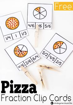 Work on fractions in a fun way with these free pizza fraction clip cards! Practice halves, fourths, fifths, and sixths. Just print and add clothespins!