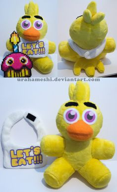Chica from FNAF Plush Sale BIDDING STARTS AT $0.99 by UraHameshi.deviantart.com on @DeviantArt