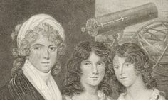 Finding women in the history of science- shown Margaret Bryan, portrayed here with her daughters, was a writer of popular scientific books and taught sciences at her school for girls. Source: Wikimedia