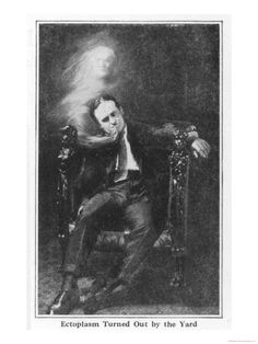 Harry Houdini producing 'ectoplasm' for the camera