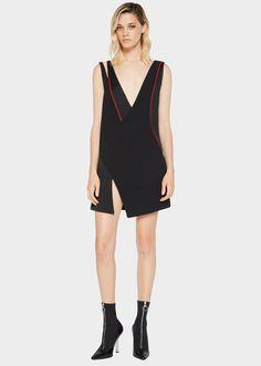Versace Stitch Envers Satin Mini-Dress for Women | Official Website