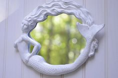 Hey, I found this really awesome Etsy listing at https://www.etsy.com/listing/85513585/mermaid-mirror-beach-style-cottage-decor