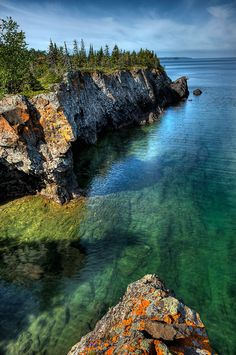 Isle Royale National Park, Michigan This is next to the Pictured Rocks National lake shore. Great hiking and mountain biking in the area.