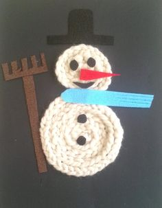 Sneeuwpop van wol Diy And Crafts, Crafts For Kids, Arts And Crafts, Winter Camping, Textiles, Knitting Projects, Frozen, Art For Kids, Snowman