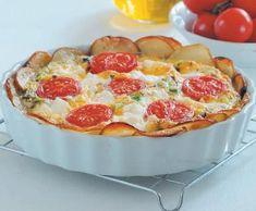 Bramborová omeleta | Recepty Albert Gnocchi, Pepperoni, French Toast, Pizza, Treats, Breakfast, Recipes, Food, Sweet Like Candy