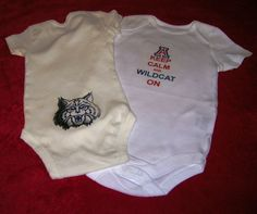 Boutique style U of A Keep Calm Wildcat Onesie  by QtPieCreations1, $12.50