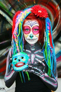 Sugar Skull Body Paint I by *FrankensteinBabe on deviantART