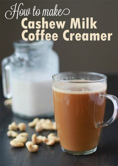 How to Make Cashew Milk Coffee Creamer - rich, creamy, and unbelievably easy to make. I use this in my coffee every morning and it's amazing! Dairy Free Coffee Creamer, Homemade Coffee Creamer, Keto, Dairy Free Recipes, Vegan Recipes, Gluten Free, Yummy Recipes, Coffee Meme, Coffee Recipes