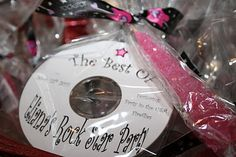 Party Like a Rock Star! PUT KIDS MUSIC ON CD'S AND PUT IN FAVOR BAGS?