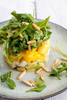 Avocado-Mango-Mozzarella-Salat Rezept Feed me up before you go-go salad salad salad recipes grillen rezepte zum grillen Healthy Diet Recipes, Healthy Meal Prep, Healthy Eating, Cooking Recipes, Mango Salat, Avocado Salat, Fresh Avocado, Avocado Toast, Avocado Recipes