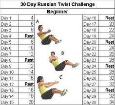 30 Day Challenge Russian Twist Beginner