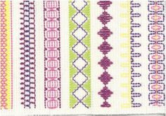 Vohvelikirjonta 2 Diy Crafts For School, Crafts To Do, Arts And Crafts, Swedish Embroidery, Beaded Embroidery, Swedish Weaving, Textile Fabrics, Needle And Thread, Handicraft