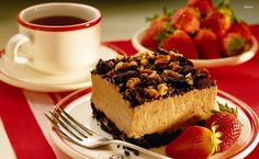 Coffee and cake HD Wallpaper