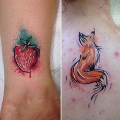 Image result for strawberry tattoo