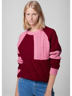 This is J | sweater weather | thisisj.com | pink and red | great sweater | Product image number 1