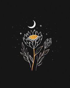 ideas for wallpaper fofos femininos fundo preto branco Kunst Inspo, Art Inspo, Cute Wallpaper Backgrounds, Cute Wallpapers, Art Sketches, Art Drawings, Wallpaper Fofos, Protea Flower, Flowers