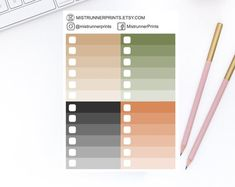 Gold and Copper Vertical Ombre Checklists Planner Stickers Set for Erin Condren Planner Happy Planner Personal Planner Travelers Notebook Mini Hands, Weekly Planner, Erin Condren, Travelers Notebook, Happy Planner, Planner Stickers, How To Draw Hands, Etsy Seller, Copper