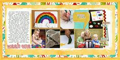 HOW-TO   week-one_two page layour for digital scrapbooking
