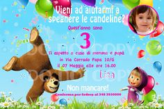 Masha and Bear Custom Birthday Party by Smile1510DesignShop