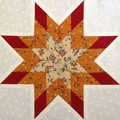 Estrella de la mañana - Curso gratuito de Inicación al Patchwork Lone Star Quilt, Star Quilt Blocks, Star Quilts, Easy Quilts, Mini Quilts, Quilt Block Patterns 12 Inch, Pattern Blocks, Tutorial Patchwork, Primitive Quilts