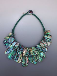 Tiered 'fan collar': natural Paua Abalone Shell on