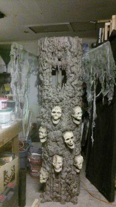 Haunted souls animated halloween tree DIY