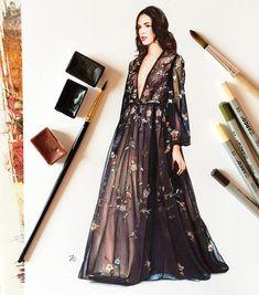 Dennis Basso fashion illustration