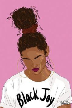 Black Canvas Art, Canvas Art Prints, Canvas Wall Art, Painting Prints, Paintings, Black Girl Art, Black Art, Black Girl Magic, Joy Art