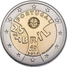 commemorative coin 2 euros Portugal April Shop Numismatica and Filatelia Lopez, purchase sale of gold and silver coins, stamps Spain, Portugal Euro, Numismatic Coins, Euro Coins, Gold And Silver Coins, Commemorative Coins, World Coins, Coin Collecting, Stamp, Shopping