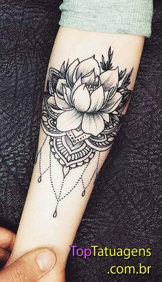 Awesome black and grey tattrx tattoo style of Jewelry Flower motive done by tattoo artist Anastasia Agapova Tattoos Mandalas, Mandala Hand Tattoos, Lotus Mandala Tattoo, Mini Tattoos, Forearm Tattoos, Body Art Tattoos, New Tattoos, Geometric Tattoos, Pretty Tattoos