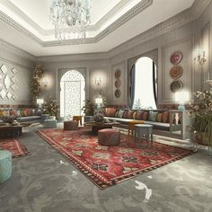 Moroccan Sitting area design - Private Palace- Saudi Arabia